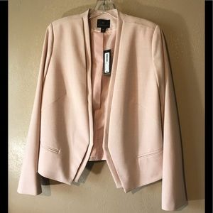 Worthington pink blazer size 14, polyester & rayon
